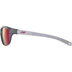 Julbo Player L Spectron 3CF Okulary przeciwsłoneczne 6-10 lat Dzieci, matt grey/matt light grey/multilayer rosa